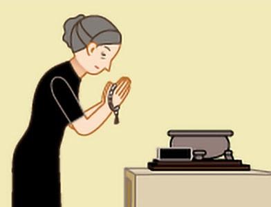 お焼香のしかた|手順1
