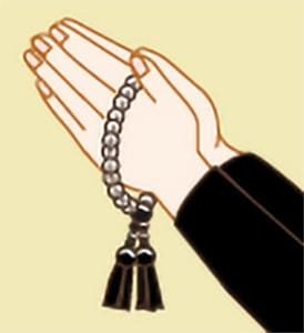 お数珠のかけ方|浄土真宗本願寺派