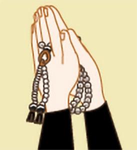 お数珠のかけ方|真言宗