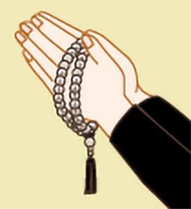 お数珠のかけ方|天台宗