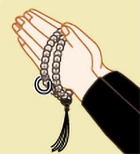 お数珠のかけ方|臨済宗・黄檗宗・曹洞宗