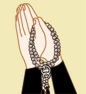 お数珠のかけ方|浄土宗