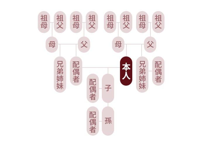 二親等までの家系図