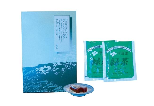 佐賀小城羊羹緑茶