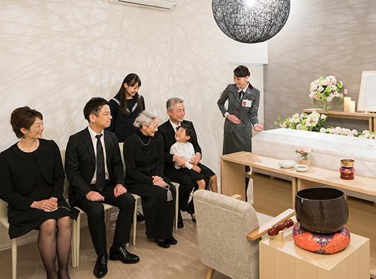8名家族葬セットプランのイメージ