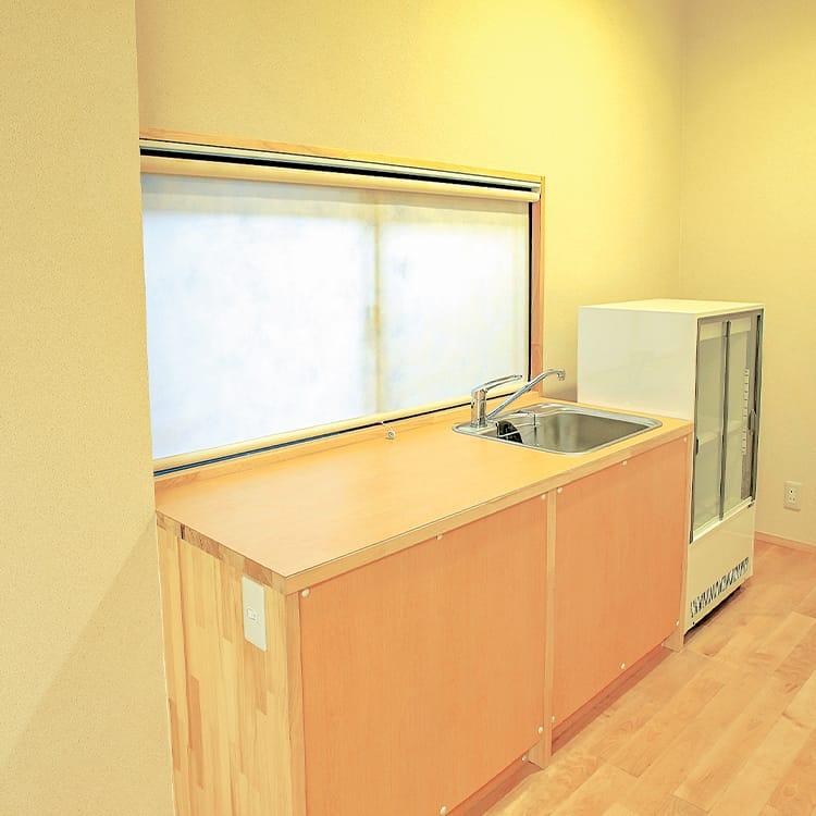 1Fホール・親族控室キッチン