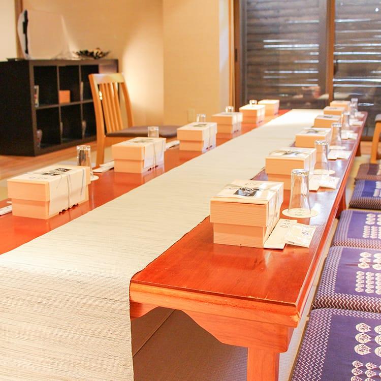 親族控室(会食イメージ)